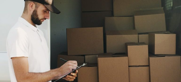A professional mover providing delivery services.