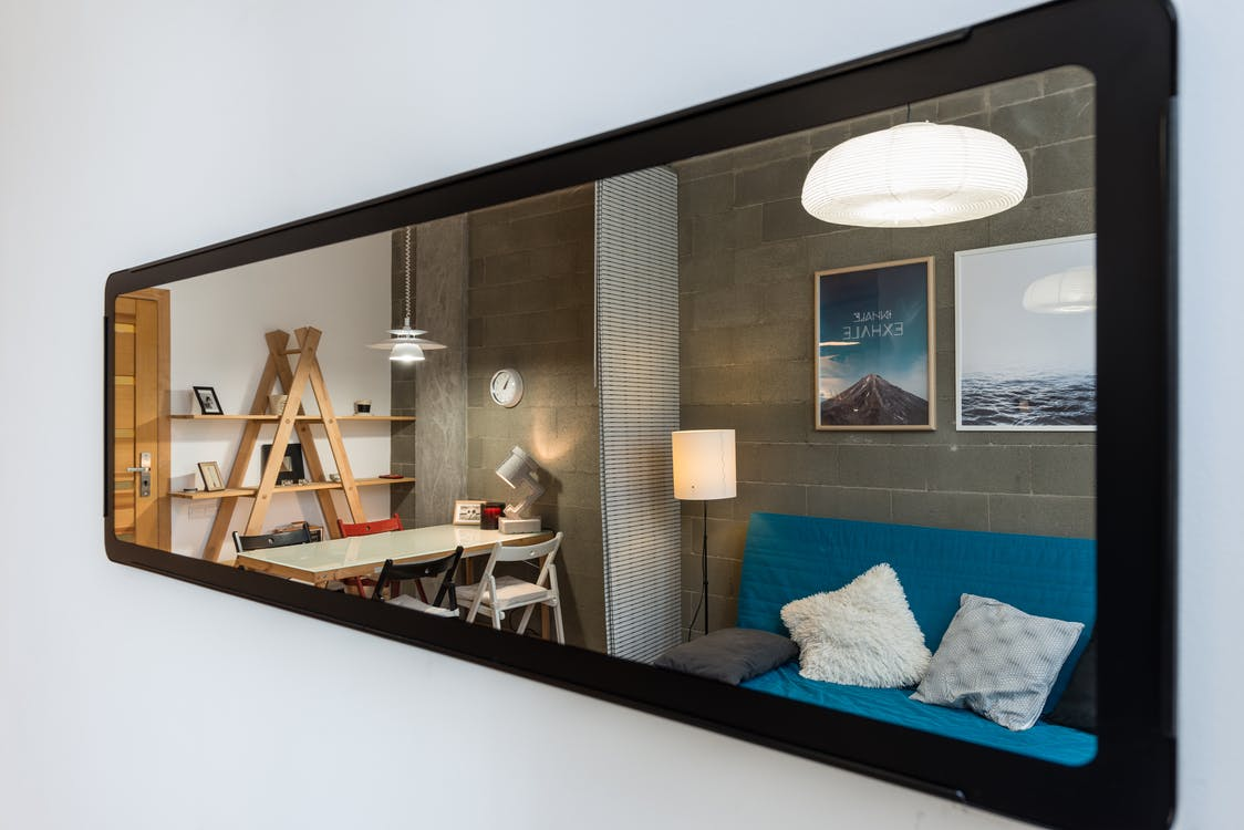 mirror in a room