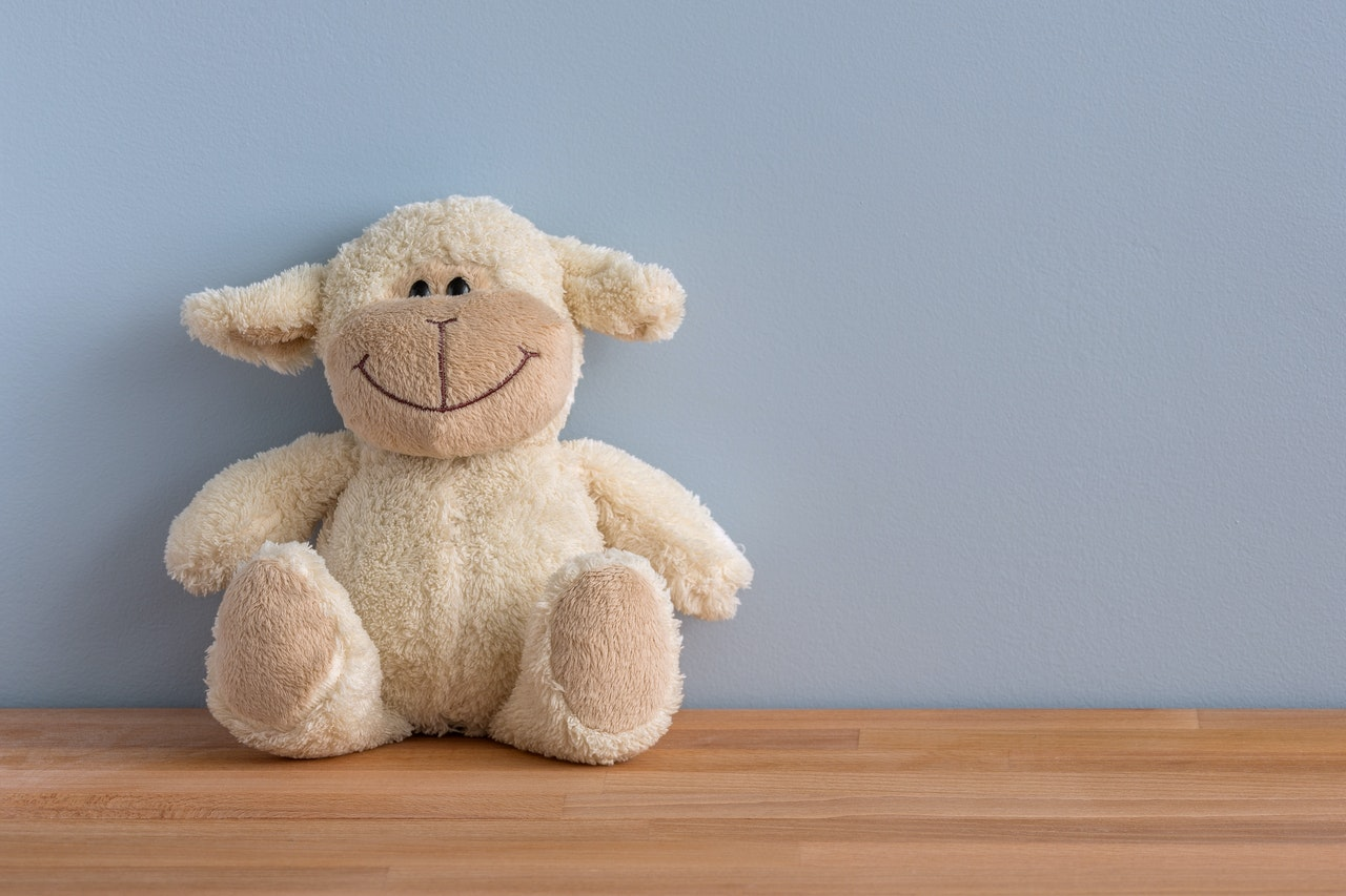 a teddy bear is the first item when packing toys before moving to Gaithersburg
